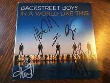 AUTOGRAPHED BACKSTREET BOYS In A World Like This CD Signed