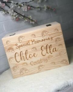 Large Wooden Personalised Memories Keepsake Box