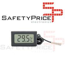Thermomètre digital sonda 1m externe température lcd aquarium congélateur Noir