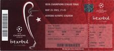 reproduction 2005 LIVERPOOL AC MILAN champions league final PERSONALISED ticket