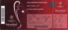 Reproducción 2005 Liverpool AC Milan de la Liga de Campeones Final Personalizadas Ticket