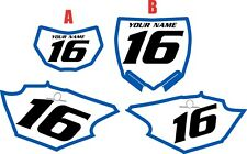 2016-2018 Yamaha WR450F Pre-Printed White Backgrounds with Blue Bold Pinstripe