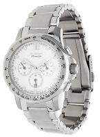 Dugena Premium Herren Armbanduhr Chronograph silber 7090158