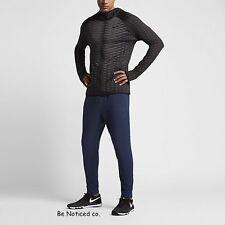 Nike Dry Men's Fleece Training Pants S Blue Dri-Fit Gym Casual Running New