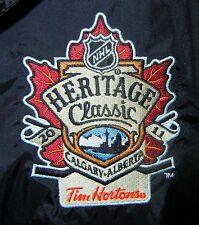 Tim Hortons NHL 2011 Winter Classic Calgary Reebok Nylon Black Jacket Coat XL