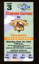 1997 Tennessee Vols v Florida Gators Football Ticket 9/20 Peyton Manning 54768