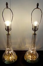 "PAIR of WATERFORD CRYSTAL BERKSHIRE ELECTRIC LAMPS 27.5"" TOP OF FINIAL"