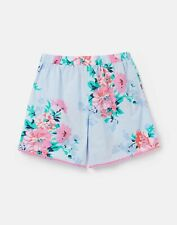 Joules Girls 210767 Woven Printed Short - Sky Blue Floral - 4Yr