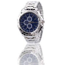 Men Watches Army Military Stainless Steel Sport Date Analog Quartz Wrist Watch