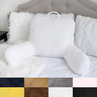 Sweet Home Micro Plush Back Support w/ Arms Bed Rest Pillow Lounger Cushion