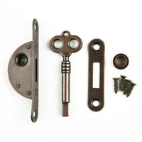New Antique Furniture Drawer Lock Kit With Key Cabinet Wardrobe Cupboard Door