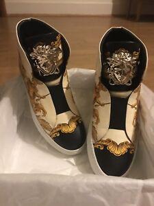 Versace Baroque Print High Top Sneakers