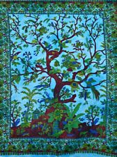 Indian Cotton Tapestry Wall Hanging Hippie tree Of Life Dorm Poster Handmade