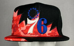 Mitchell and Ness NBA Philadelphia 76ers Quadra II Snapback Hat, Cap, New