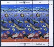 ONU Vienne 1992 Mi. 127-128 Mini Feuille 100% ** Poissons, mer propre
