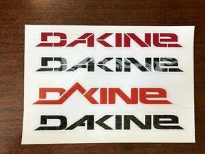 DAKINE Decal Sticker 4 Logo Sheet Surfboard Snowboard RED BLACK CAMO