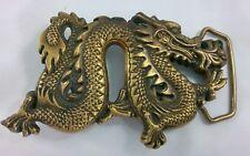 Baron Buckles Dragon Fire Solid Brass Belt Buckle 6254 Taiwan Vintage 1981