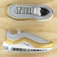 Nike Air Max 97 SE Gray Metallic Silver Gold White Running Shoes AQ4137-001 Size