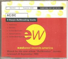 "AC/DC ""5 Classic Ballbreaking Tracks"" 5 Track Promo CD SELTEN"