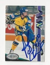 1993 Parkhurst Autographed Hockey Card Anders Eriksson Team Sweden