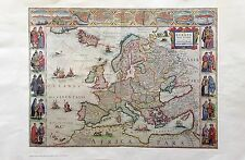 AMAZING VINTAGE ART RARE ANTIQUE MAP COLOR LITHOGRAPH OF ANCIENT EUROPE HISTORY