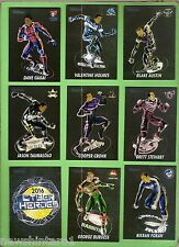 NINE 2016  NRL RUGBY LEAGUE CARDS, CYBER  HEROES CH2, 4, 9, 7, 8, 10, 11, 13, 14