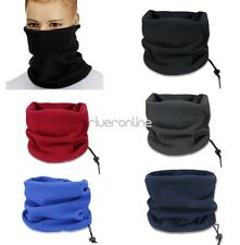 Hot Snood Scarf Winter Hat Fleece Neck Warmer Balaclava Men Women Black Ski Mask