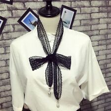 Sell Autumn Scarf Long Necklace Scarf Choker Necklace Tie Neck Scarf Women Scarf