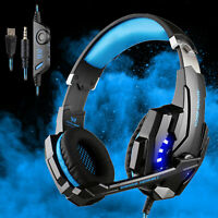 Each G9000 Gaming Headsets Headphones for PS4 Xbox One Controller with Mic Blue