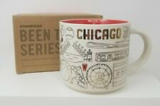 Starbucks Chicago Holiday Been There Mug Gold Trimmed