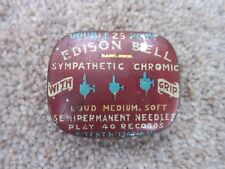 EDISON BELL 'Double 25 Point Sympathic Chromic' Gramophone Needle Tin