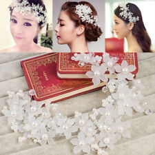 Pearl Crystal Flower Wedding Bridal Hair Pin Hairpin Clip Headband Comb Barrette