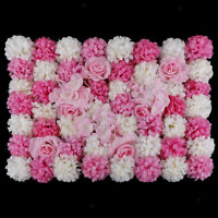2Pcs Fake Blossom Flower Wall Panel Events Stage Decorations Flowers Vene