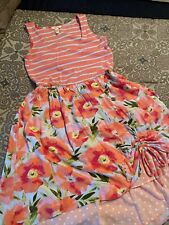 matilda jane pink floral tank dress size S