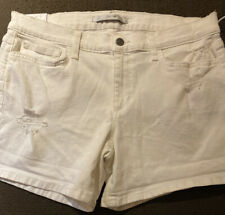 "Joe's Jeans White Distressed Jean Shorts Size 31/5"" Inseam NWTS"