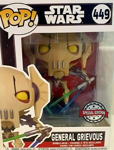 Funko Pop! General Grievous 449 With Four Lightsabers Star Wars Special Edition