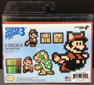 Super Mario Bros 3 Tech Decal Pack Stickers Set Nintendo Controller Gear USA New