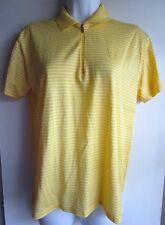 RALPH LAUREN GOLF NWT $79 yellow striped classic fit zip up polo shirt Sz S