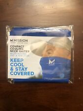 MISSION compact Cooling Neck Gaiter Face Cover Mask Blue NEW/ SEALED- FREE SHIP