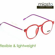 3a45e5cabdc2 NWT 39.99 MIASTO RETRO ROUND PREPPY READER READING GLASSES+1.50 FLEXIBLE  (RED)