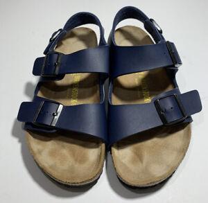 Birkenstock Milano Sandal Blue Leather Men's US Size 8 (Women 10)