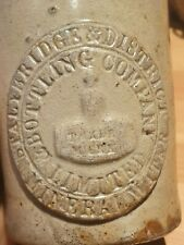 vintage Victorian slab seal bottle stalybridge & district pictorial slabber