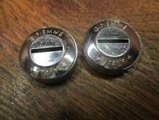 Gipiemme plastic dust caps vintage silver crankset bolt cover black