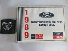 1989 FORD TRUCKS BODY BUILDERS LAYOUT BOOK MANUAL (ALL MODELS SHOWN IN PICS.)