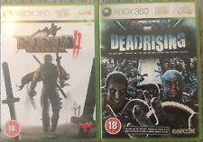 Superb 2x Xbox 360 Games Bundle: Deadrising & Ninja Gaiden II. Include Manuals.