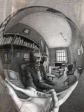 "Vintage ""Self Portrait"" Hand w/reflection, Black & White, Framed, good condition"