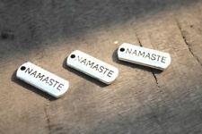 20pcs Namaste charms silver tone Namaste Charm Pendant 21x8mm