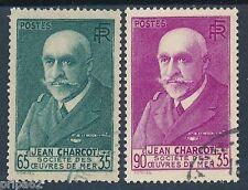 CO - TIMBRE DE FRANCE N° 377 et 377 A oblitérés