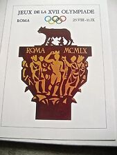 Olympic Games  1960 IN Rome Italy Official Poster Reprint 16x12 Offset Litho