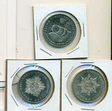 From Show Inv. - 3 UNC. COMMEM 50 TENGE COINS...KAZAKHSTAN...ALL 2008...3 TYPES